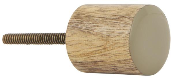Knauf Mangoholz Zylinder mit Staubig grüner Front von IB Laursen
