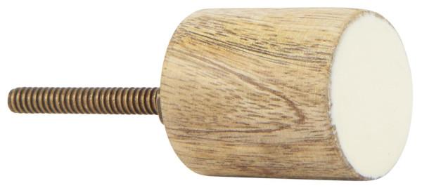 Knauf Mangoholz Zylinder mit Offwhite Front von IB Laursen