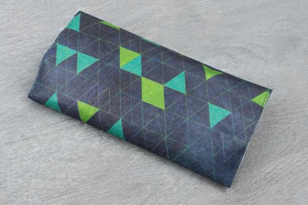 Tabakbeutel Triangles Blau Grün