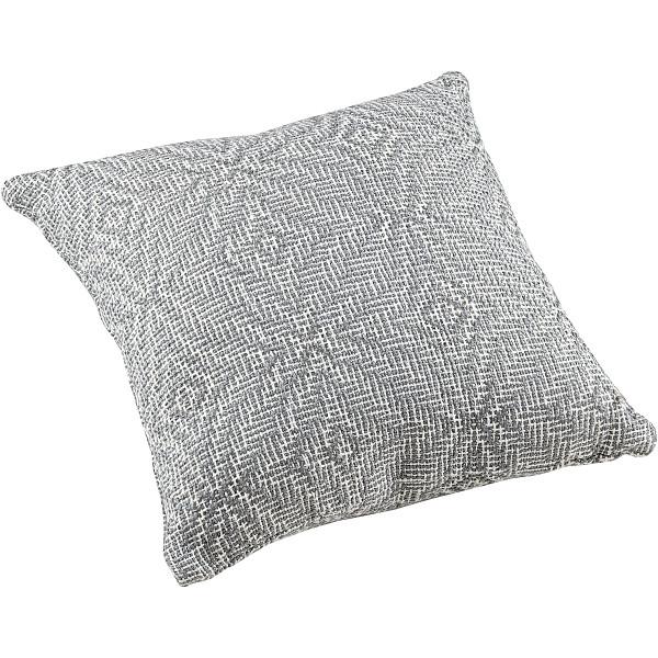 Kissenhülle MIRAGE Ecru/Grau mit Füllung von LIV Interior