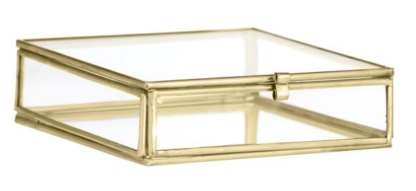 Quadratische Glasbox Gold von Madam Stoltz