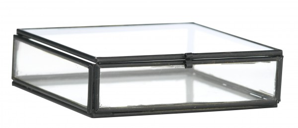 Schmuckbox quadratisch Schwarz