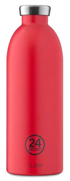 Thermosflasche Clima Hot Red 0,85L von 24bottles