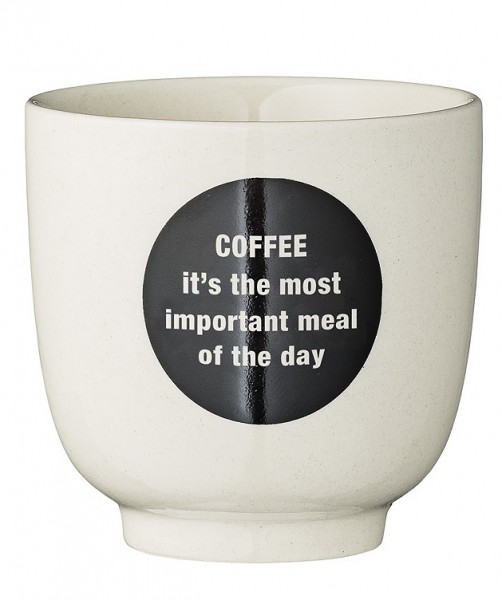 Becher Cathrine Quote White with Black Coffee Ø 7cm
