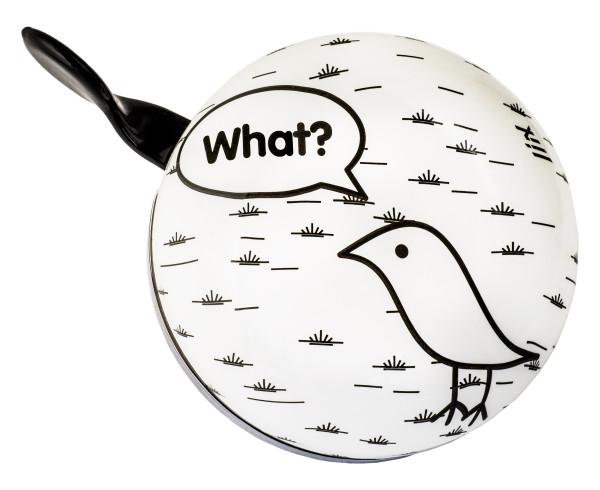 Fahrradklingel Ding Dong What a Bird Weiss