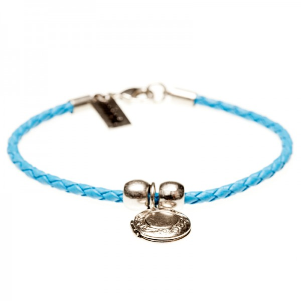 Armband Message, Silber Blau