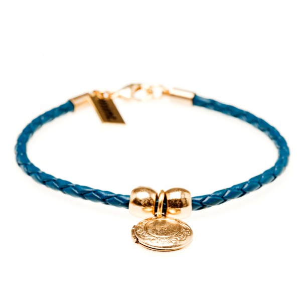 Armband, Message, Gold Blue