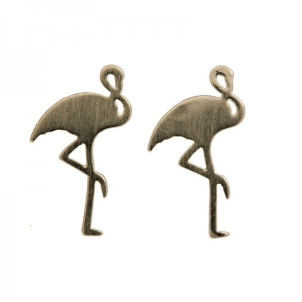 Ohrringe Flamingo, versilbert