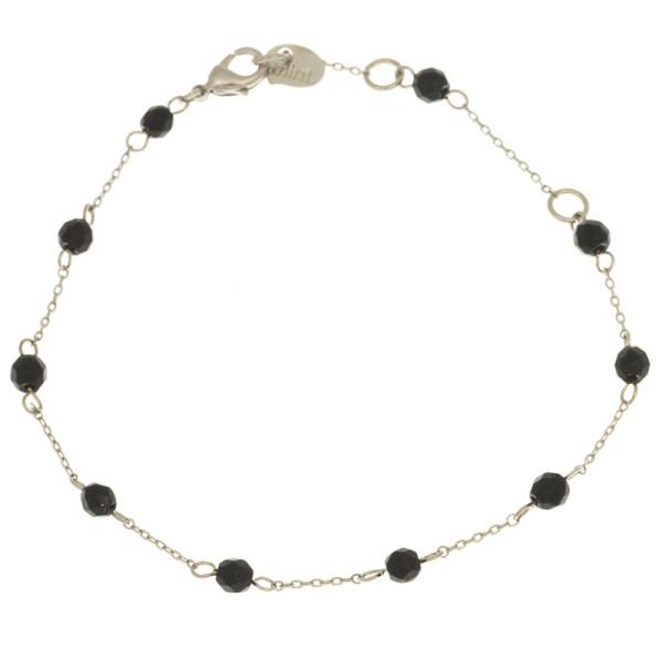 Armband Stein Onyx, Silver Black