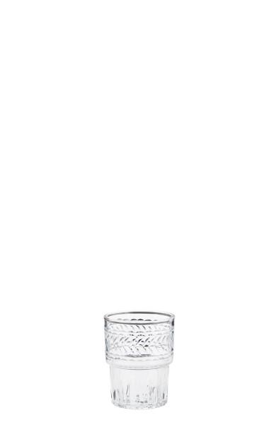 Kleines Trinkglas mit Muster