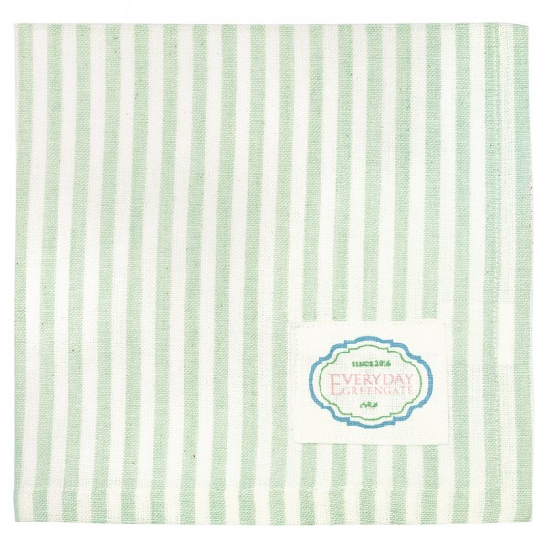 Stoffserviette Alice Stripe Pale Green