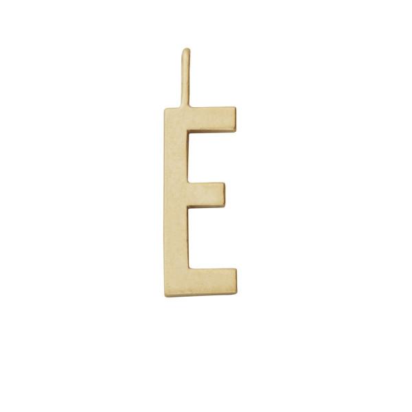 Anhänger Buchstabe E Gold von Design Letters