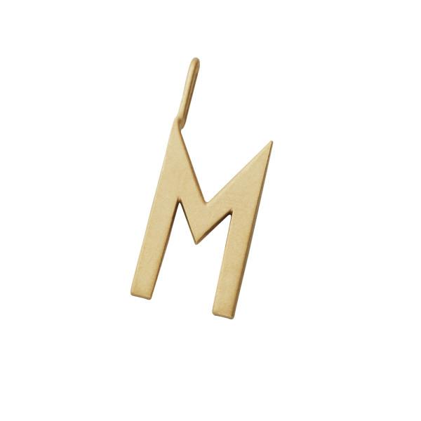 Anhänger Buchstabe M Gold von Design Letters