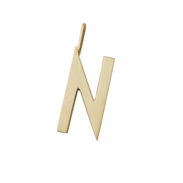 Design Letters Anhänger Buchstabe N Gold
