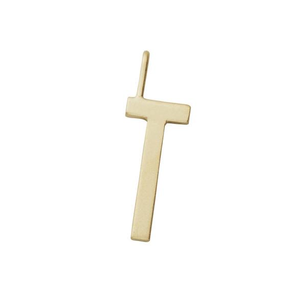 Anhänger T Gold von Design Letters
