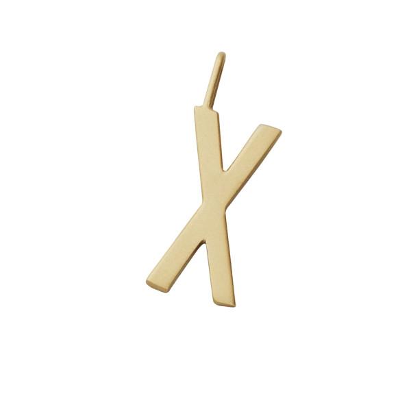 Anhänger X Gold von Design Letters