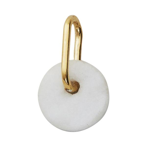 Anhänger White Marble mit Gold von Design Letters
