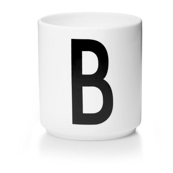 Porzellan Becher Weiß B von Design Letters