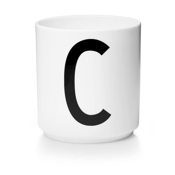 Porzellan Becher Weiß C von Design Letters