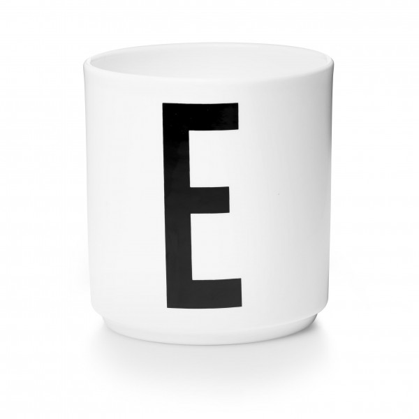 Porzellan Becher Weiß E von Design Letters