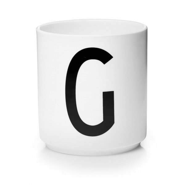 Porzellan Becher Weiß G von Design Letters