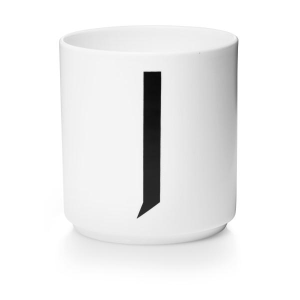 Porzellan Becher Weiß J von Design Letters