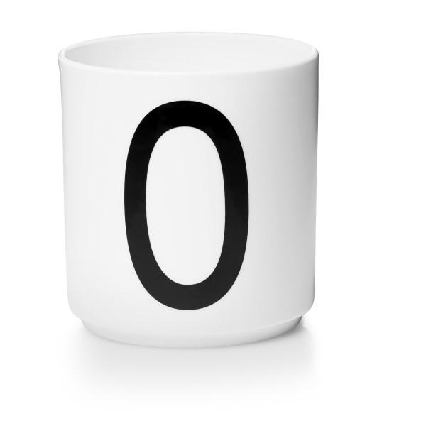 Porzellan Becher Weiß O von Design Letters