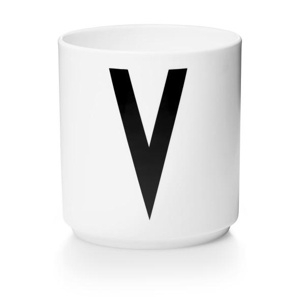 Porzellan Becher Weiß V von Design Letters