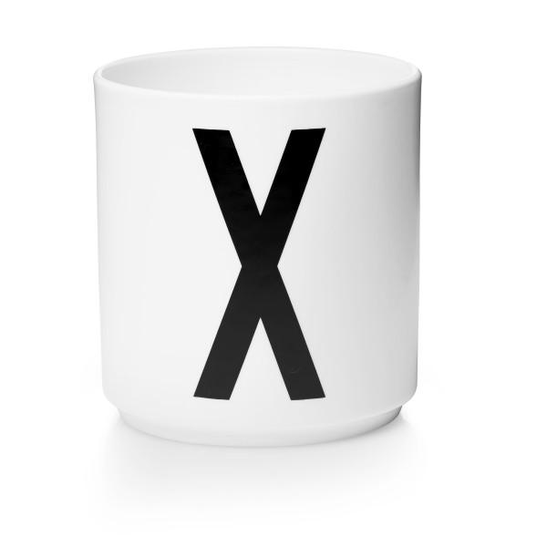 Porzellan Becher Weiß X von Design Letters