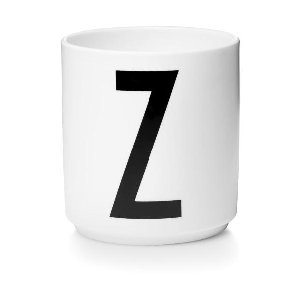 Porzellan Becher Weiß Z von Design Letters
