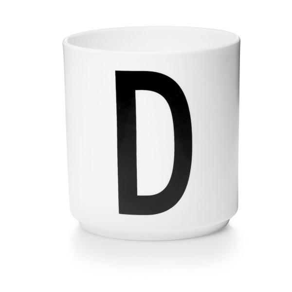 Porzellan Becher Weiß D von Design Letters