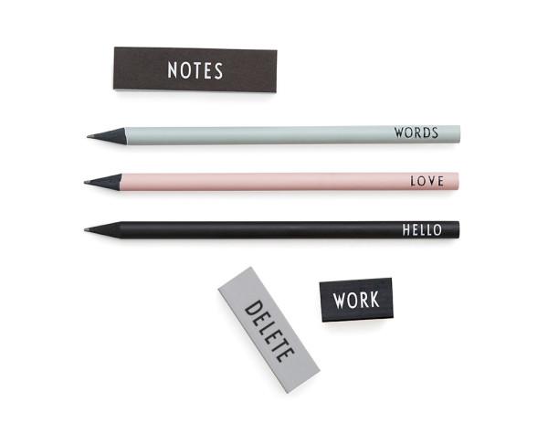 Bleistift Set 3er Set + Radiergummis von Design Letters