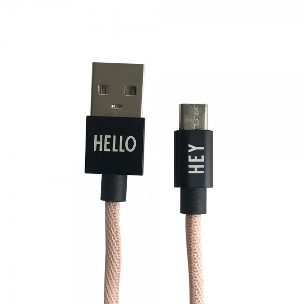 Ladekabel Micro USB Nude von Design Letters