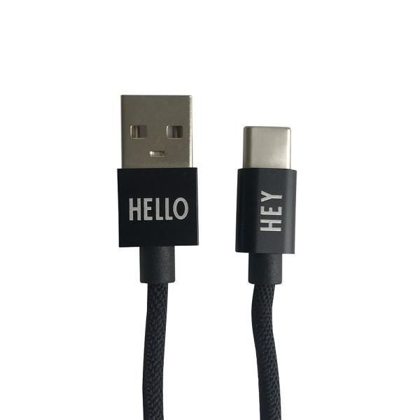 Ladekabel USB-C Schwarz von Design Letters