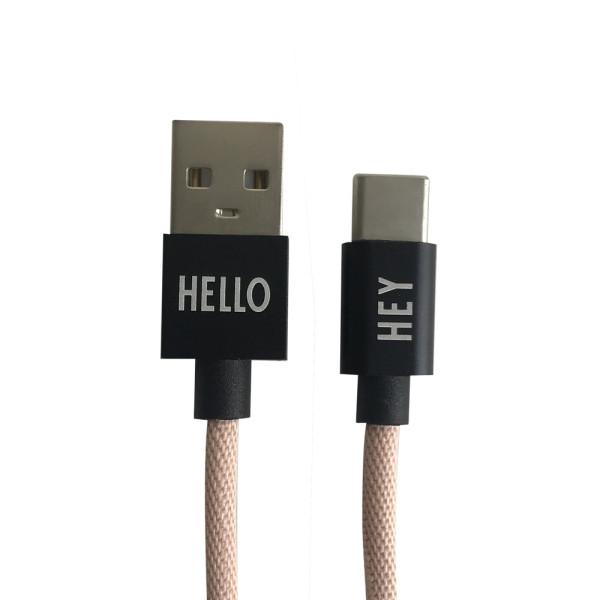 Ladekabel USB Nude von Design Letters