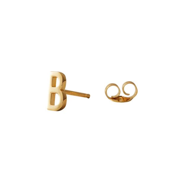 Ohrstecker B Gold von Design Letters