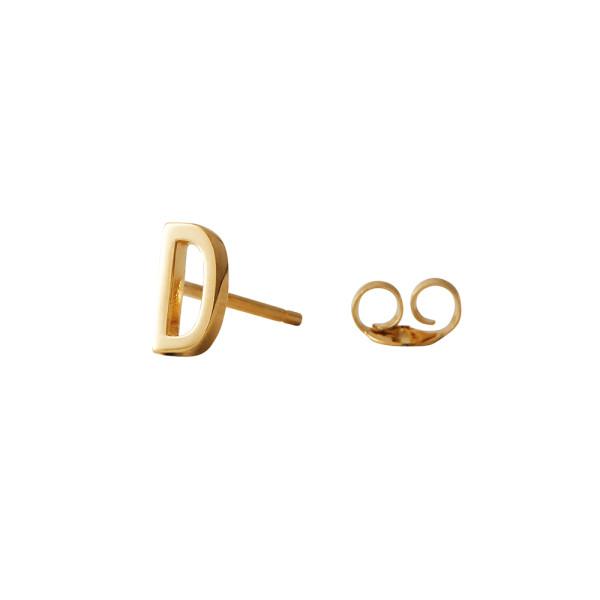 Ohrstecker D Gold von Design Letters