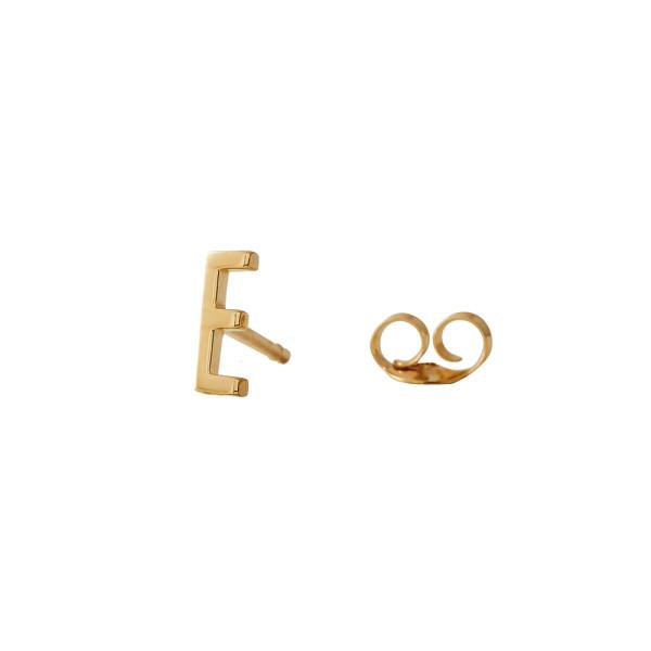 Ohrstecker E Gold von Design Letters