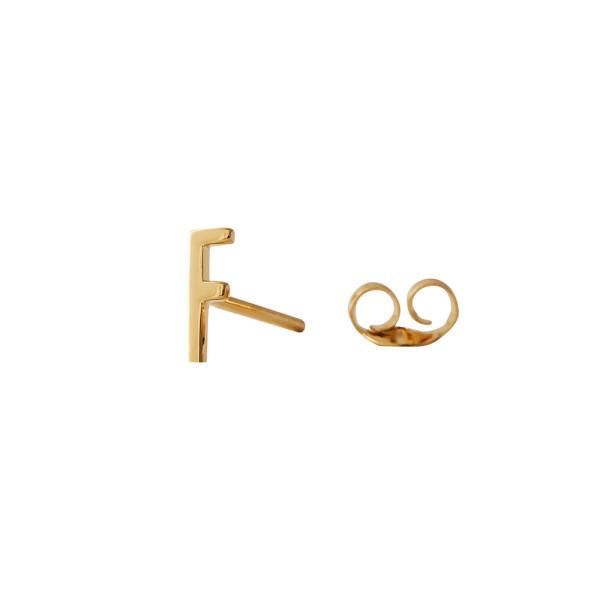Ohrstecker F Gold von Design Letters