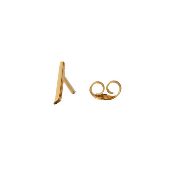 Ohrstecker J Gold von Design Letters