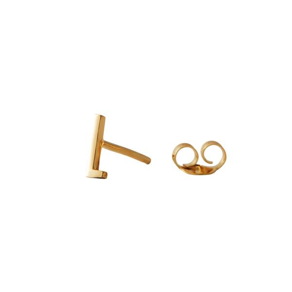 Ohrstecker L Gold von Design Letters