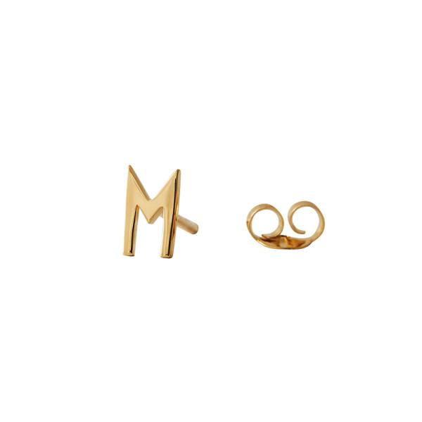 Ohrstecker M Gold von Design Letters