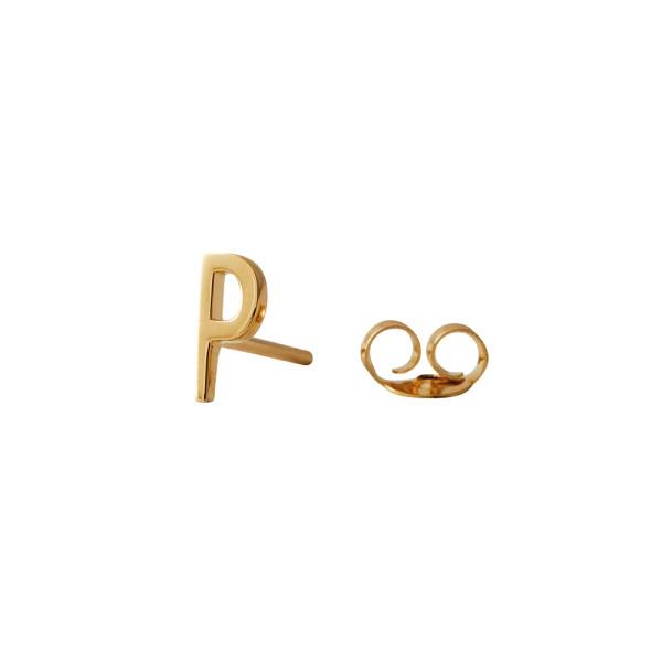 Ohrstecker P Gold von Design Letters
