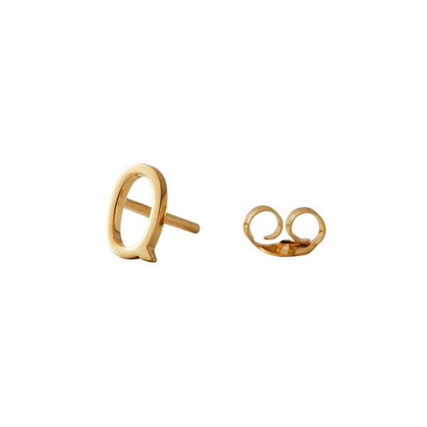 Ohrstecker Q Gold von Design Letters