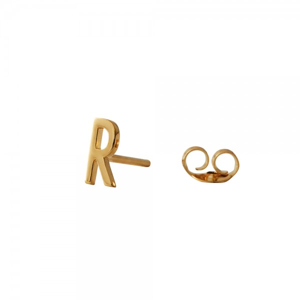 Design Letters Ohrstecker Buchstabe R Gold