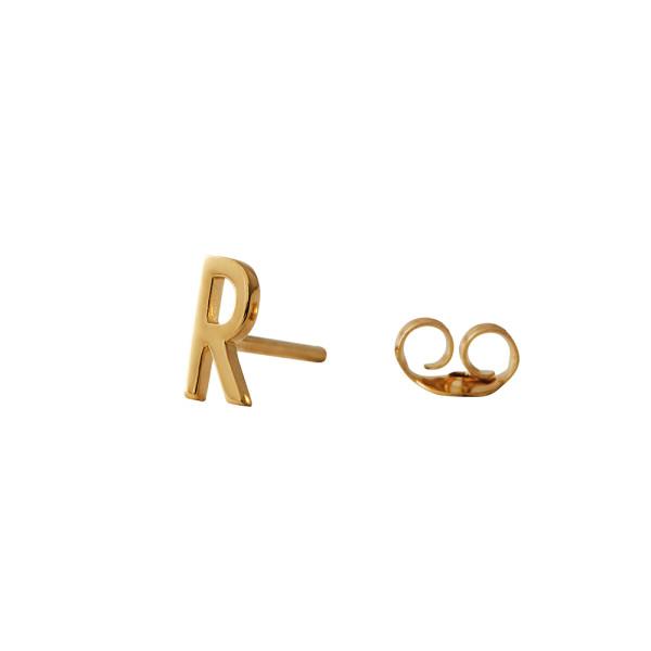 Ohrstecker R Gold von Design Letters