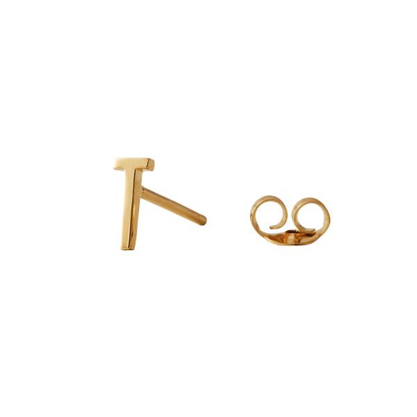 Ohrstecker T Gold von Design Letters