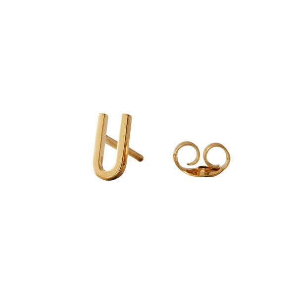 Design Letters Ohrstecker Buchstabe U Gold