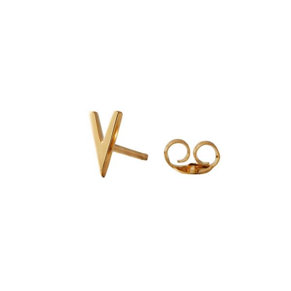 Ohrstecker V Gold von Design Letters