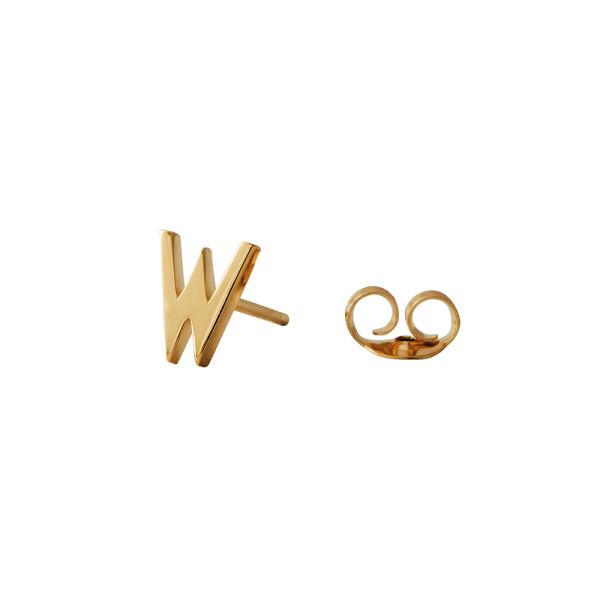Ohrstecker W Gold von Design Letters